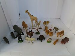Collection Of 21 Britains Plastic Zoo Animals Tiger Lion Gorilla And More