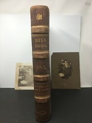 Antique Maine Ledger Doctor Albert Martin Card Medical Doctor With Photos 1885