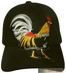 Large American Mexican Rooster Cock Fight Chicken Game Fowl Mesh Trucker Cap Hat