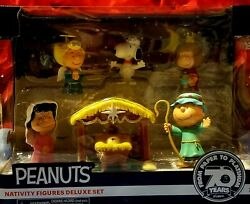Charlie Brown Christmas Peanuts Nativity Play Scene Deluxe Set Religious Fab