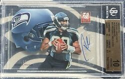 Russell Wilson 2012 Bgs 10 Elite Hard Hats /99 Rookie Card Rc 10 Auto Autograph