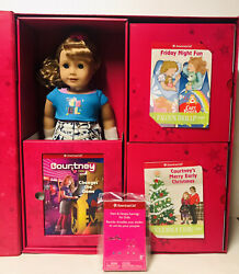 American Girl Doll Courtney 1986 Gift Trunk Care Bear Molly Doll Outfits New