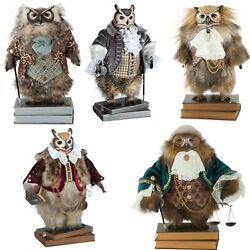 Hand-painted Collectible Doll Eagle-owl Porcelain Toy Interior Toys