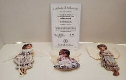 Heavens Little Angels Ornaments Set Of 3 With Certificate Of Authenticity