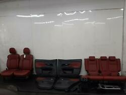 2018 Mitsubishi Outlander Front And Rear Seats Red Leather Interior + Door Cards