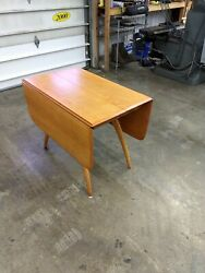 Heywood Wakefield Butterfly Drop-leaf Dining/kitchen Table - Vintage   Mcm