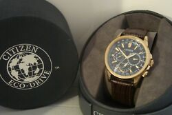 Citizen Eco-drive World Time 8729-r005995. Rose Gold. Gents Watch. Triple Date