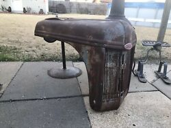 40's 50's Ford Tractor 8n 9n 2n Hood Grill Old Original Rusty Patina