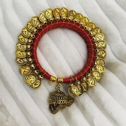 Women Coin Bracelet 24k Gold Plated Middle East Arabic Style. Set Of 2 Braclets