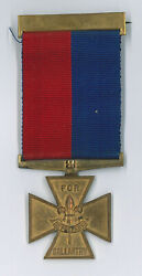 1961 Scouts Of British - Uk Scout Leader Gilt Cross For Gallantry Medal Rare