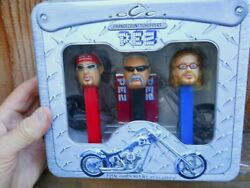 New In Box Xince 2006 Orange County Choppers 3 Pc Pez Set In Metal Tin