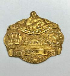 Antique 1921 Knights Of Columbus Medal Pin Mission Dolores San Francisco