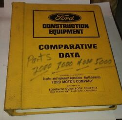 Ford Tractors Parts Accessories Catalog For 2000 Thru 7000 Tractors Shop Used