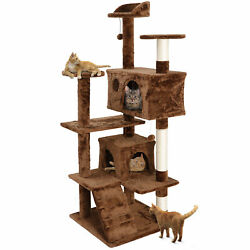 Large Playing House Condo 53 Cat Tree Tower Activity Center For Rest Brown