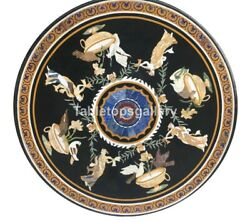 32 Marble Coffee Table Top Mosaic Birds And Angels Inlay Interior Home Decor B231