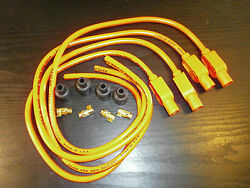 Kawasaki Z750 Taylor Hot Orange Ignition Leads And Colour Moulded Plug Caps.