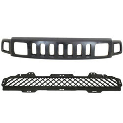 06-10 H3 Front Upper And Lower Grill Grille Assembly 2-piece Set 25821170 15834195