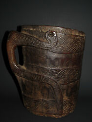 Original Best Antiques Himalayam Wooden Yak Milk Pale, Early 20 Th C.