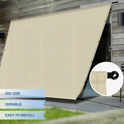 Eandk Waterproof Replacement Pergola Cover With Grommets Rods For Deck Patio Beige