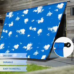 Eandk Waterproof Replacement Pergola Cover With Grommet Rod For Deck Patio Skyblue