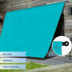Eandk Waterproof Pergola Cover With Grommets Rods For Deck Patio Turquoise