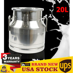5.25 Gallon Jug Stainless Steel Jar Milk Can Milk Bottle With Lid Silicone Seal