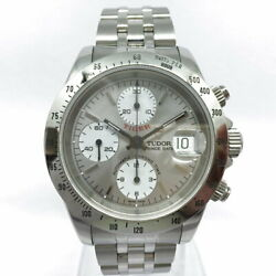 Tudor Date 79280p Chronotime Chronograph Silver Automatic Menand039s Watch