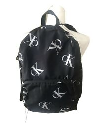 Calvin Klein CK Monogram medium size backpack Black $40.00