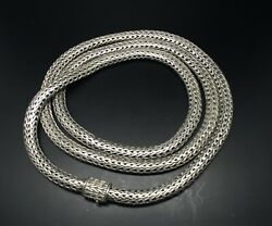 Hermes Chain Necklace With Serie Plate Pendant/sv925 1silver/hermes
