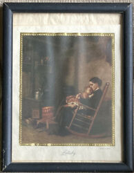 Rare Antique Print Lullaby By Eastman Johnson 1864 Mother Rocking Child Wall Art