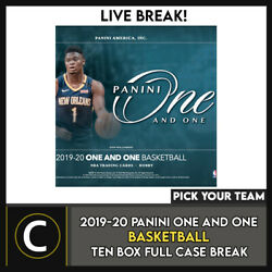2019-20 Panini One And One Basketball 10 Box Case Break B547 - Pick Your Team