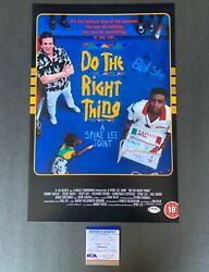 Spike Lee Signed 12x18 Do The Right Thing Photo Poster With Psa/dna Coa