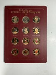 24 Medals - 1970 And 1971 Gallery Of Great Americans Bronze Franklin Mint Boxed