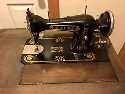 """Vintage """"new Home"""" Sewing Machine With Cabinet From Late 1920's """"singer Like"""""""