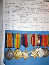 Ww1 / Ww2 Group Of 6 To A Warrant Officer 1stclass - Purchase, South African