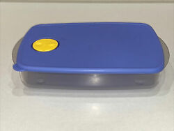 Tupperware Rock N Serve Blue Divided Container 3990 Microwave Safe - Nice T3