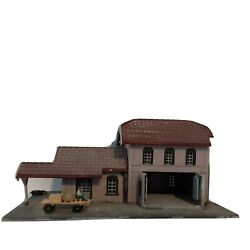 N Scale Building Freight Station 2 Story Marklin 8970 Built Collectible Exc