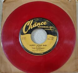 Flamingos Chance 45 Rpm Red Wax Vg 1953 Doowop Hurry Home Baby /thatandrsquos My Desire