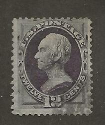 Us Stamp 140 1870 Dull Violet 12c Henry Clay H Grill Used Lite Cancel Scv 3500