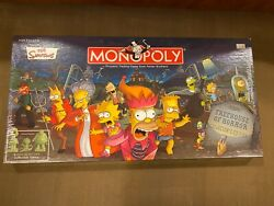 Monopoly The Simpsons Tree House Of Horror Board Game New Factory Sealed