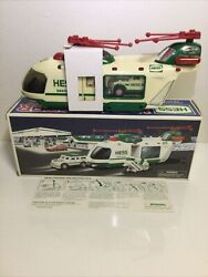 New 2001 Hess Truck Helicopter With Motorcycle And Cruiser