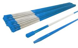Pack Of 500 Blue Snow Stakes 48 Long 5/16 For Lawn Yard And Grass Drive Way
