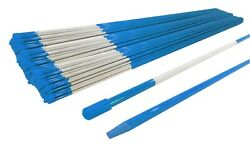 Pack Of 900 Blue Snow Stakes 48 Long 5/16 For Lawn Yard And Grass Drive Way