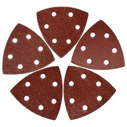 20xtriangular Sandpaper 60/80 /100/120 /240 Grits Hook And Loop Multitool