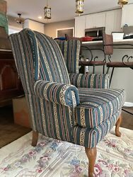 Clayton Marcus Wingback Chair Queen Anne Vintage 1998 2 Separately Available