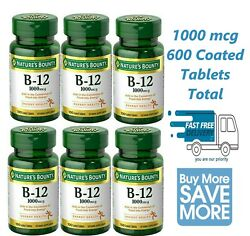 6 Pack Of Natureand039s Bounty Vitamin B-12 1000 Mcg Tablets 100 Each Exp 09/23