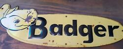 Badger Seed Feed Sign Vintage Collectable