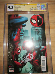 Cgc 9.8 Ss Game Stop Edition Spider-man Deadpool 1 Signed Stan Lee W/stan Label