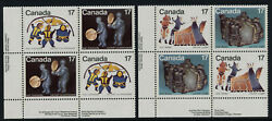 Canada 836a8aii Bl Plate Blocks Mnh Inuit Art Shelter And Community