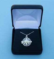 General Hospital Sterling Silver Compass Rose Locket And Silver Chain